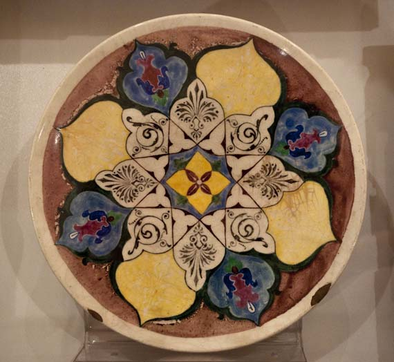 Ceramic plate from the Islamic Art Collection / Photo by Islamic Arts Magazine & The Islamic Art Collection on View at The National Museum of Bosnia ...