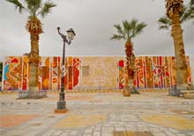 The mural project in Kairouan by graffiti artist eL Seed