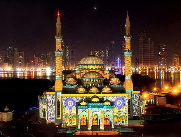Sharjah Light Festival 2016 Set To Dazzle With Over 23 ... Beautiful Masjid On Water